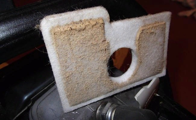 грязный фильтр бензопилы