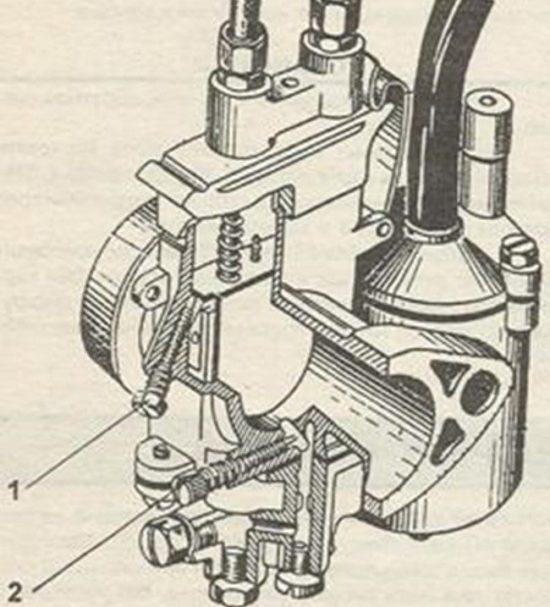 рисунок карбюратор