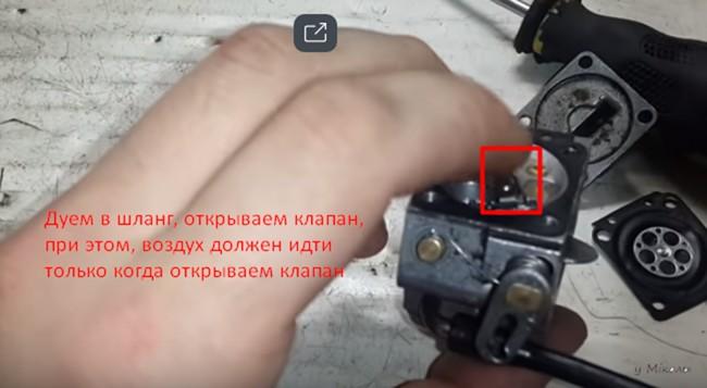 сборка карбюратора 2 бензопилы штиль 180