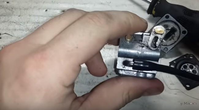 сборка карбюратора бензопилы штиль 180